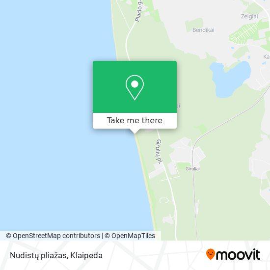 Nudistų pliažas map
