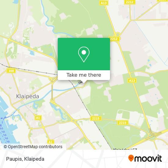 Paupis map