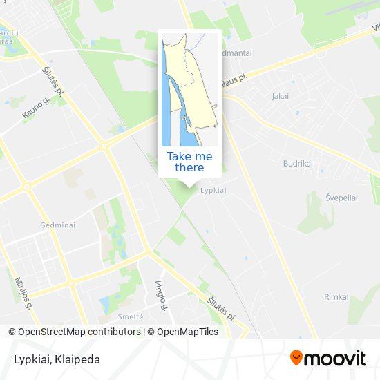 Lypkiai map
