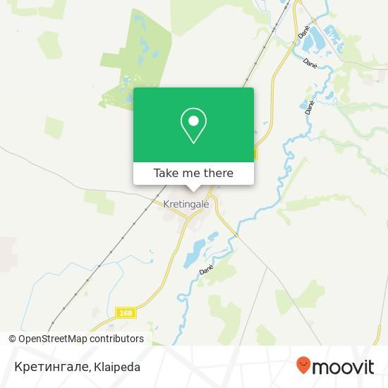 Карта Кретингале