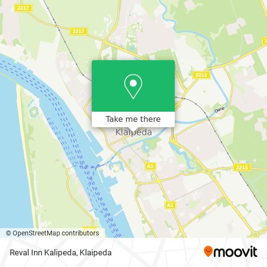Reval Inn Kalipeda map
