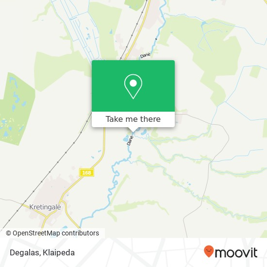Карта Degalas