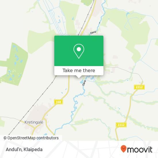 Andul'n map
