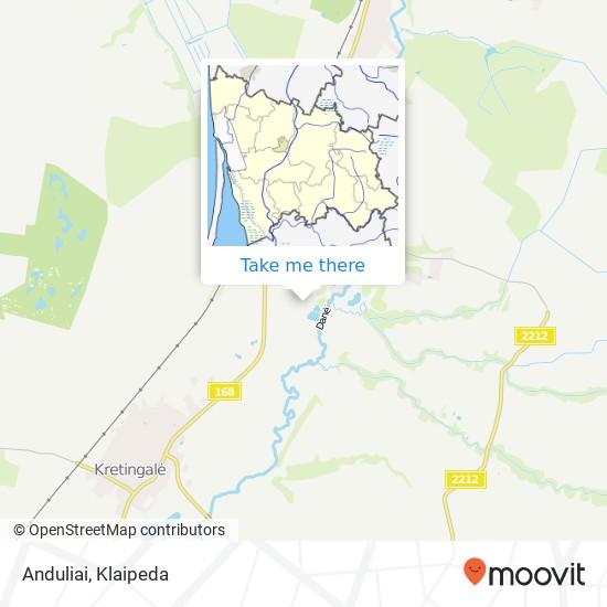 Карта Anduliai