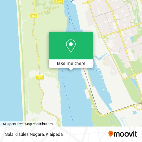 Sala Kiaulės Nugara map