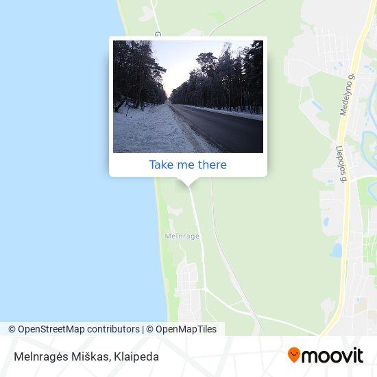 Melnragės Miškas map