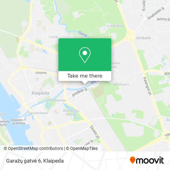 Garažų gatvė 6 map