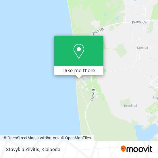 Stovykla Žilvitis map