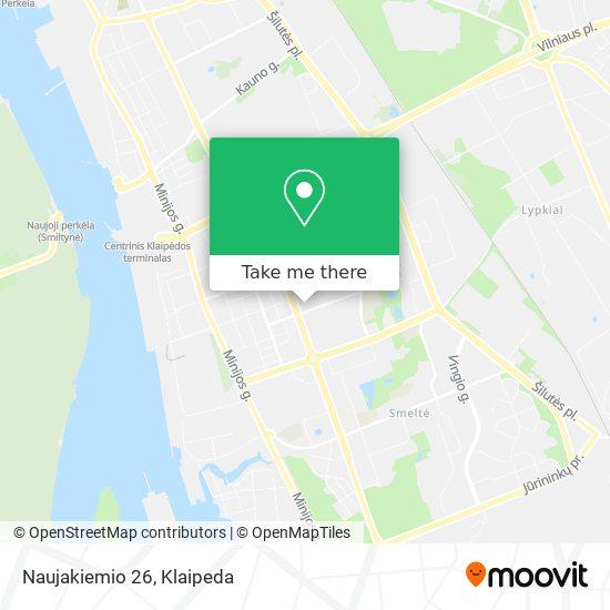 Naujakiemio 26 map