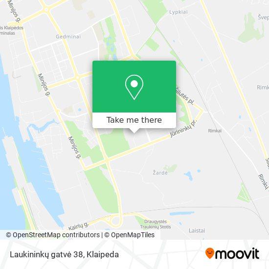 Laukininkų gatvė 38 map