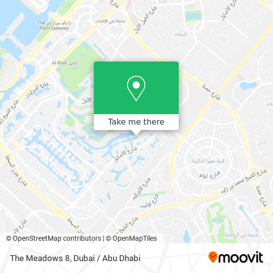 The Meadows 8 Karte