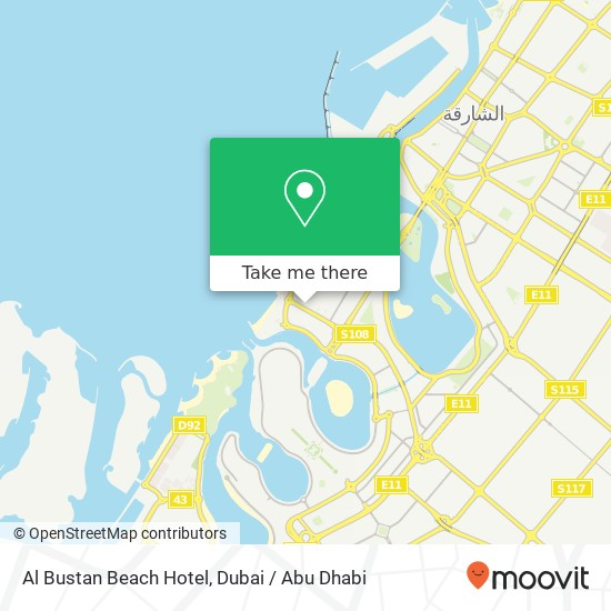 Al Bustan Beach Hotel plan