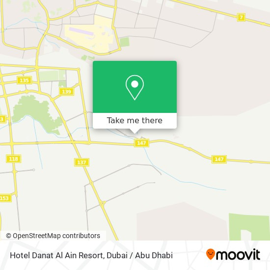 Карта Hotel Danat Al Ain Resort