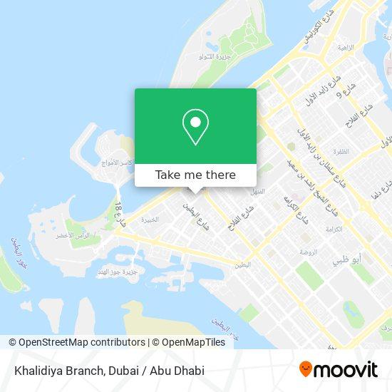 Khalidiya Post Office map