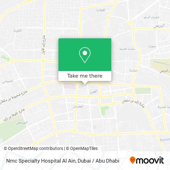 Nmc Specialty Hospital Al Ain Karte