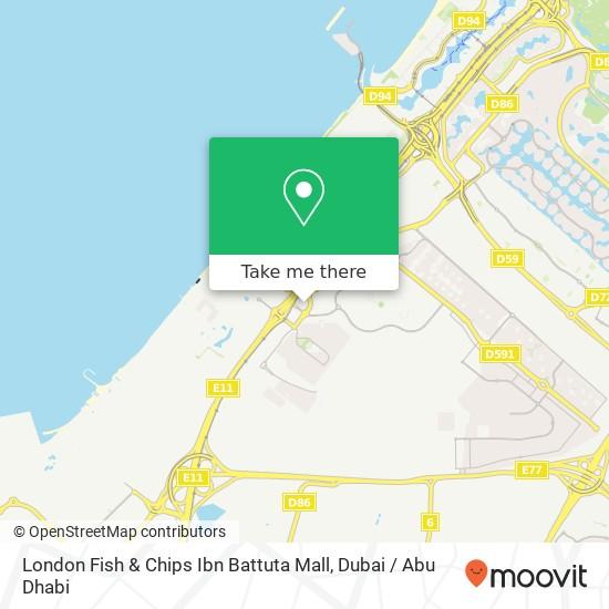 Карта London Fish & Chips Ibn Battuta Mall