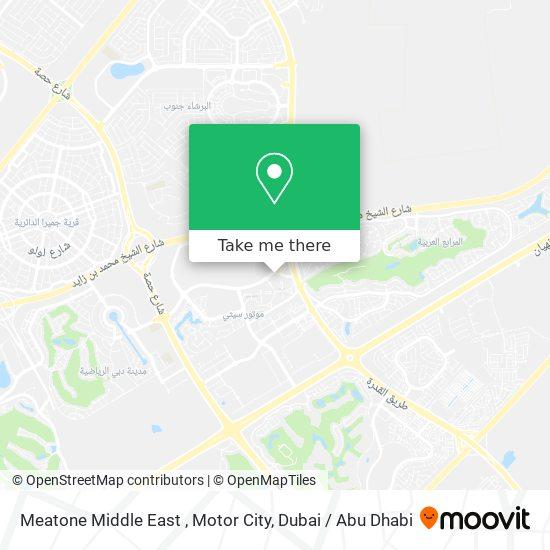 Карта Meatone Middle East , Motor City