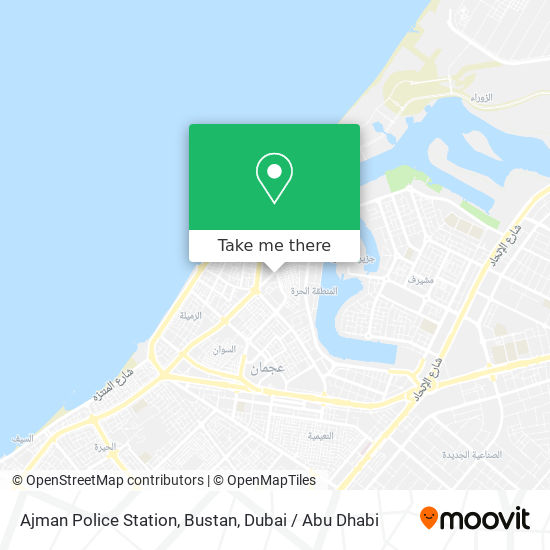 Карта Ajman Police Station, Bustan