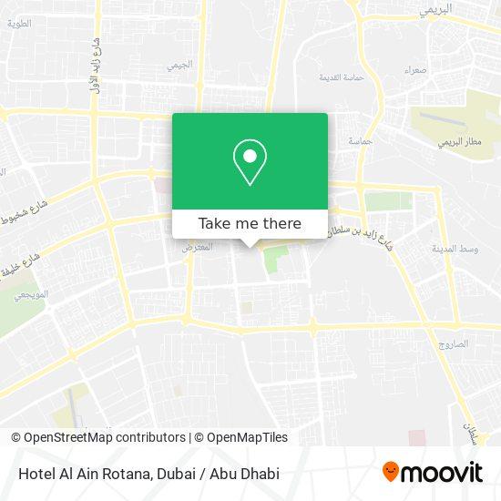 Hotel Al Ain Rotana Karte