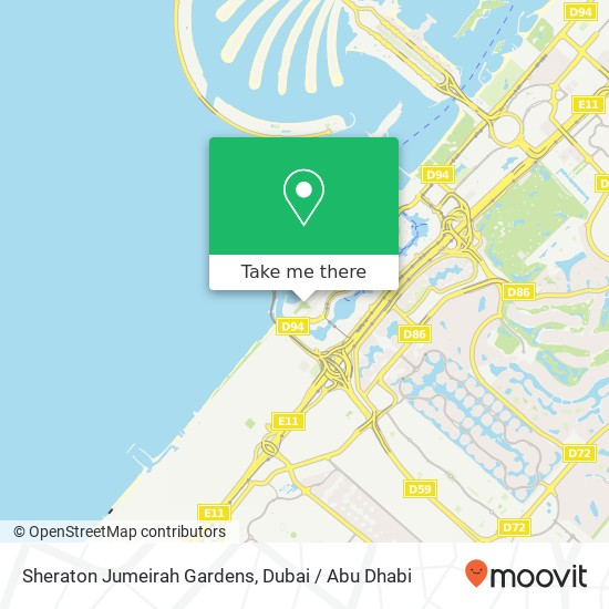 Карта Sheraton Jumeirah Gardens
