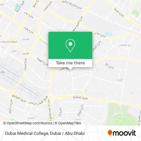 Карта كلية دبي للصيدلة للبنات