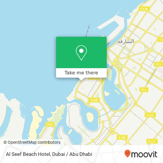 Al Seef Beach Hotel plan