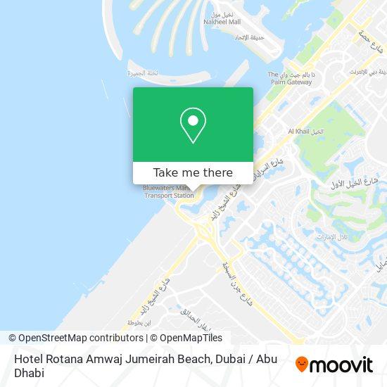 Карта Hotel Rotana Amwaj Jumeirah Beach