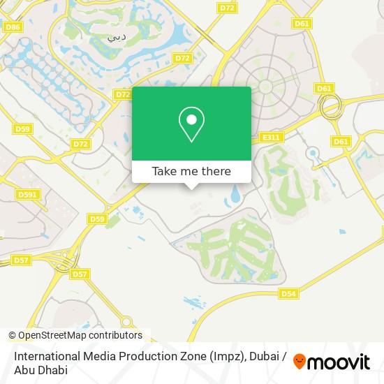 International Media Production Zone (Impz) Karte
