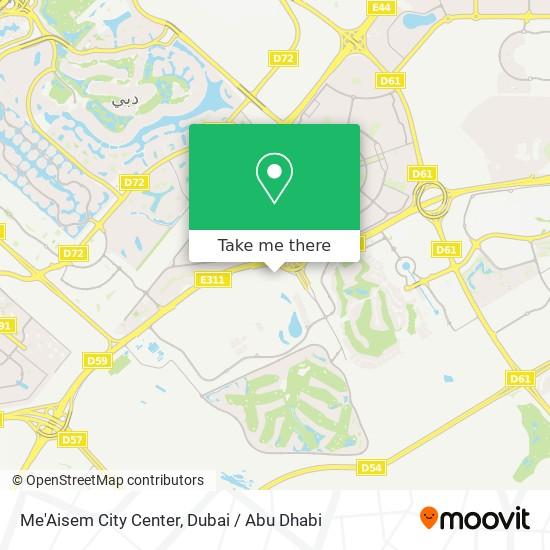 Ma'Aisem City Center Karte