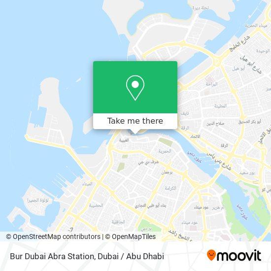 Bur Dubai Karte