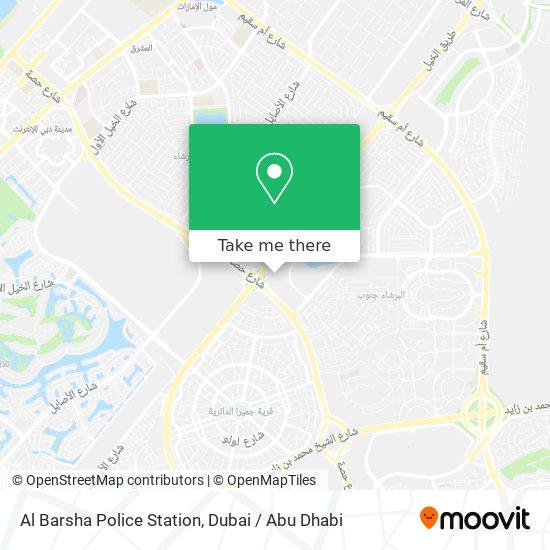 Al Barsha Police Station Karte