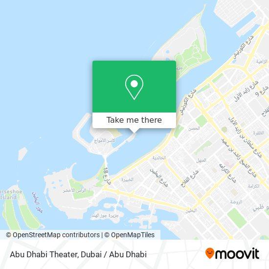 Abu Dhabi National Theater plan