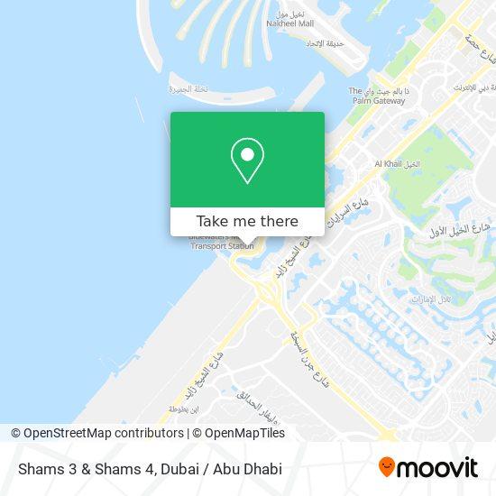 Карта Shams 3 & Shams 4