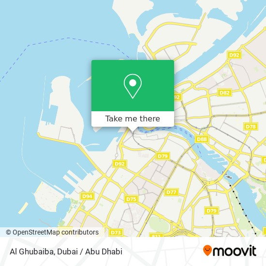 Al Ghubaiba Karte