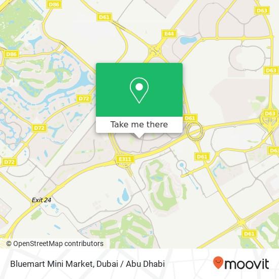 Bluemart Mini Market Karte