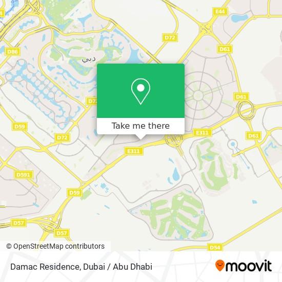 Damac Residence Karte