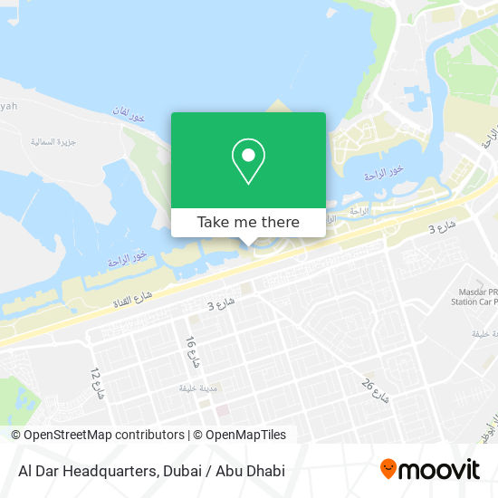 Aldar Headquarters Karte