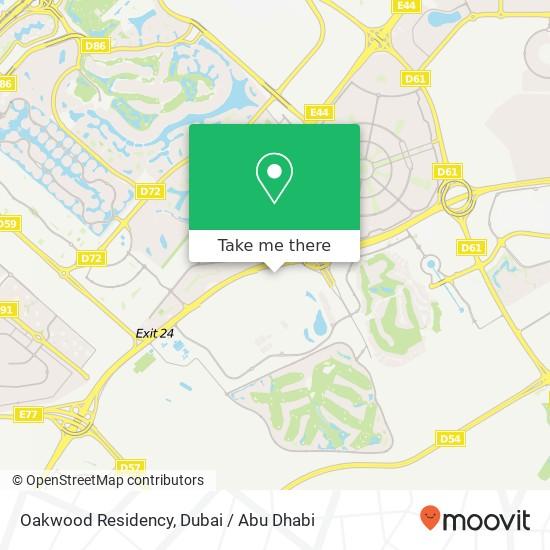 Oakwood Residency Karte
