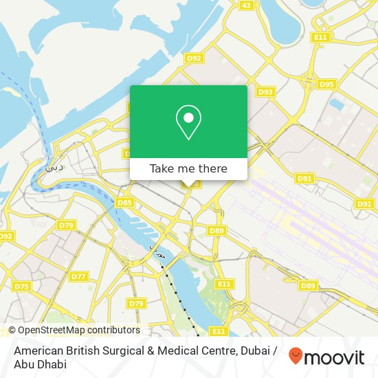 American British Surgical & Medical Centre map