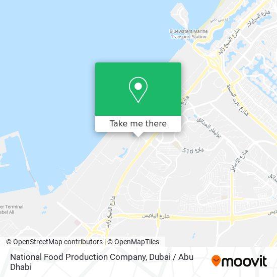 Карта National Food Production Company