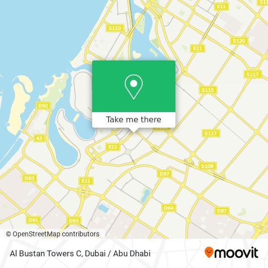 Al Bustan Towers C Karte