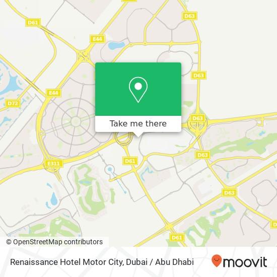 Карта Renaissance Hotel Motor City