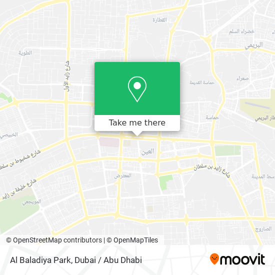 Al Baladiya Park plan