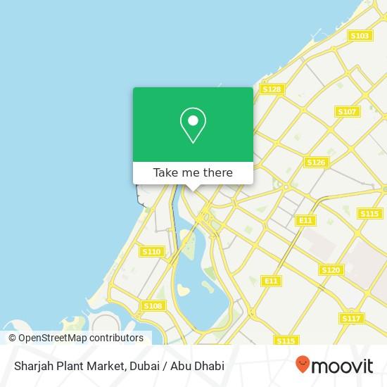 Sharjah Plant Market Karte