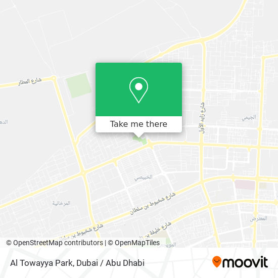 Al Towayya Park Karte