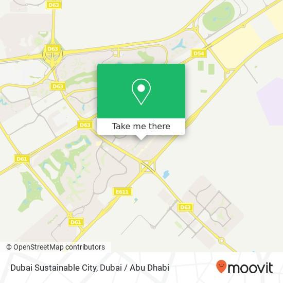 Dubai Sustainable City Karte