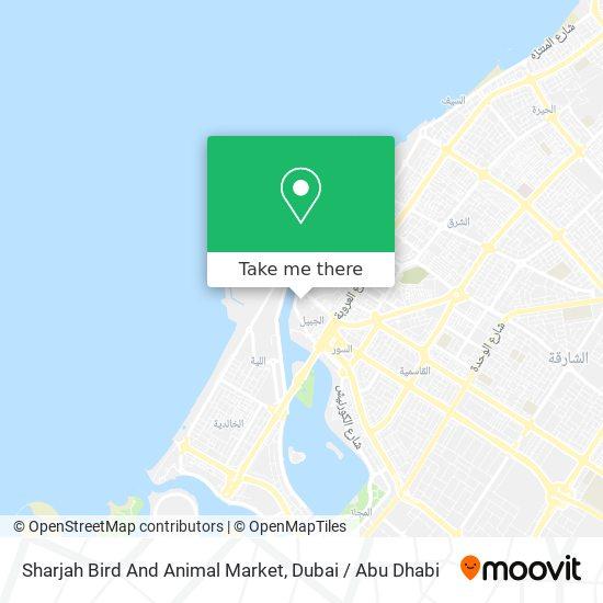 Sharjah Bird And Animal Market Karte