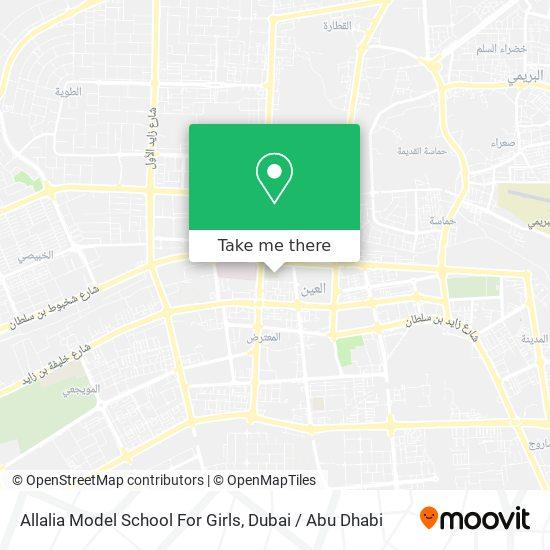 Карта Allalia Model School For Girls