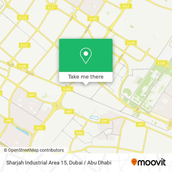 Карта Sharjah Industrial Area 15