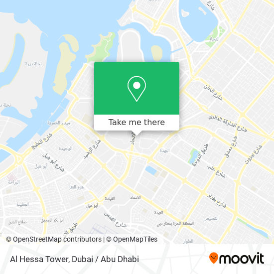 Карта Al Hessa Tower